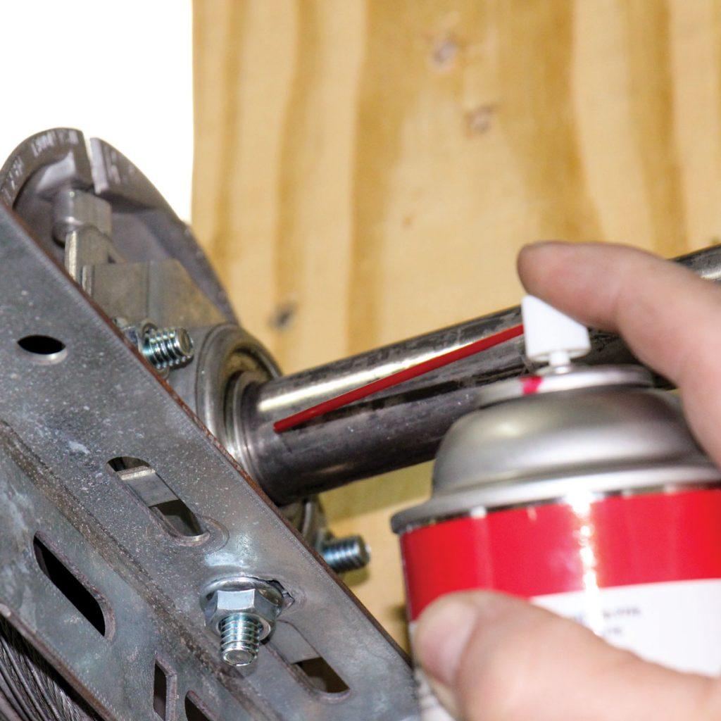 garage door shaft lubrication