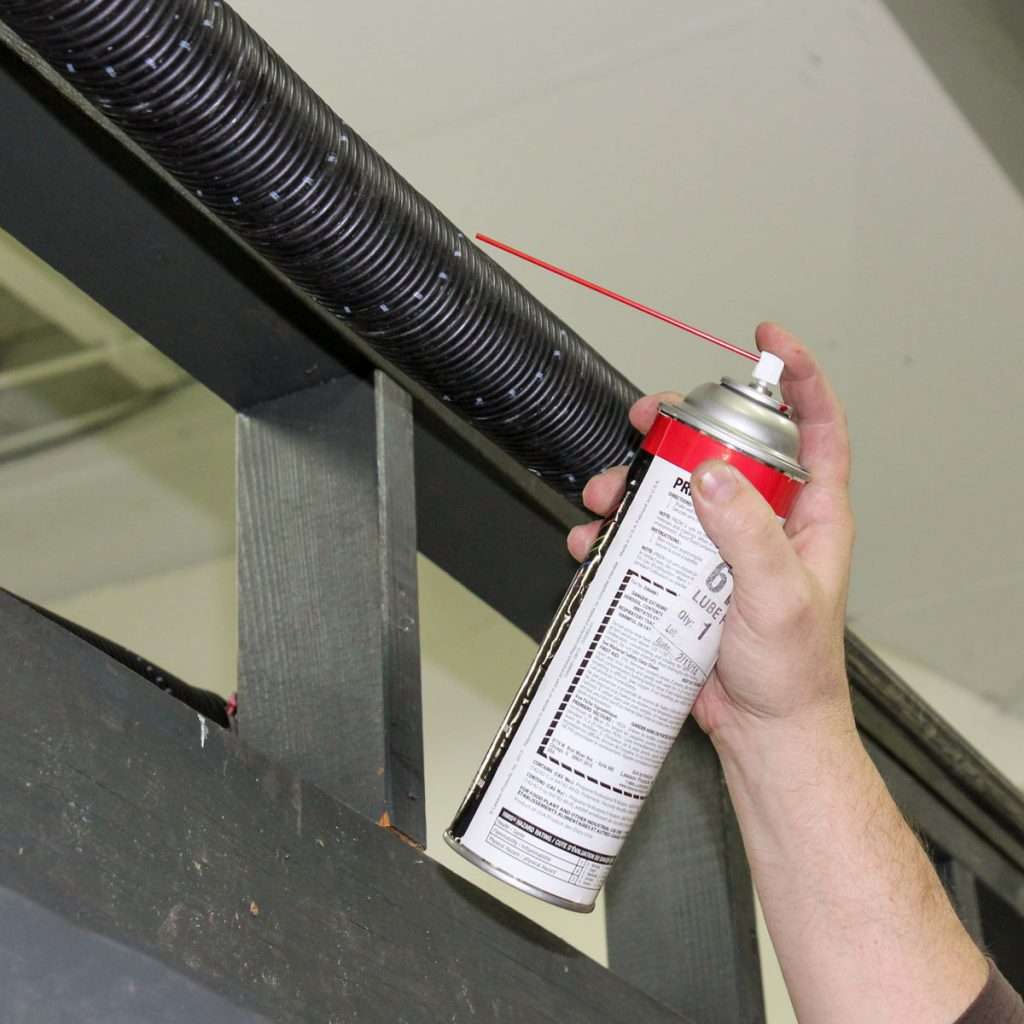 garage door spring lubrication