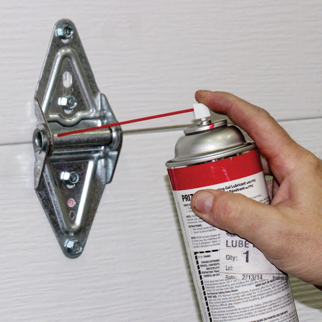 hinges lubrication garage door