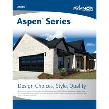 Aspen Series garage door product literature
